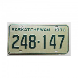 Plaque d Immatriculation Canada Saskatchewan ( 604 )