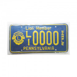 Plaque d Immatriculation USA - Pennsylvania  (602 )