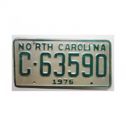 Plaque d Immatriculation USA - North Carolina ( 596 )