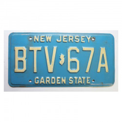 Plaque d Immatriculation USA - New Jersey ( 590 )