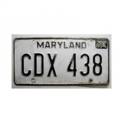 Plaque d Immatriculation USA - Maryland ( 589 )