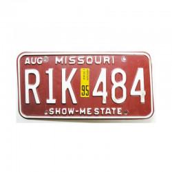 Plaque d Immatriculation USA - Missouri ( 671 )