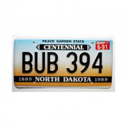 Plaque d Immatriculation USA - North Dakota ( 670 )