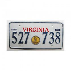 Plaque d Immatriculation USA - Virginia ( 668 )