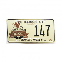 Plaque d Immatriculation USA - Illinois ( 665 )