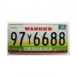 Plaque d Immatriculation USA - Indiana ( 663 )