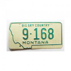Plaque d Immatriculation USA - Montana ( 658 )