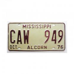 Plaque d Immatriculation USA - Mississippi ( 656 )