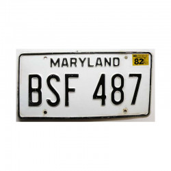 Plaque d Immatriculation USA - Maryland ( 655 )