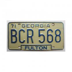 Plaque d Immatriculation USA - Georgia ( 689 )