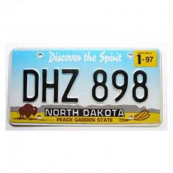 Plaque d Immatriculation USA - North Dakota ( 713 )