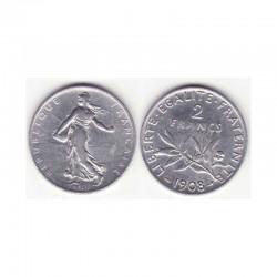 2 francs semeuse 1908 argent ( 003 )