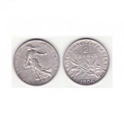 2 francs semeuse 1904 argent ( 004 )