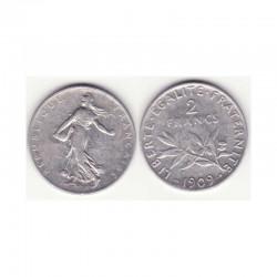 2 francs semeuse 1909 argent ( 001 )