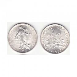 2 franc semeuse 1917 argent ( 001 )
