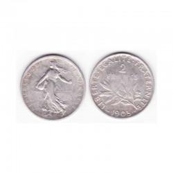2 francs semeuse 1905 argent ( 003 )