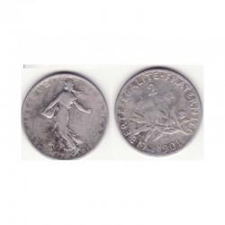 2 francs semeuse 1901 argent ( 004 )