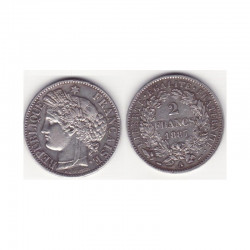 1 piece de 2 francs Ceres Argent 1887 A ( 005 )