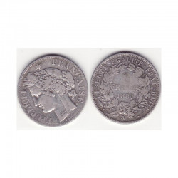 1 piece de 2 francs Ceres Argent 1887 A ( 007 )