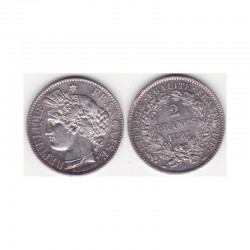 1 piece de 2 francs Ceres Argent 1887 A ( 006 )