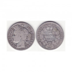 1 piece de 2 francs Ceres Argent 1872 K ( 002 )