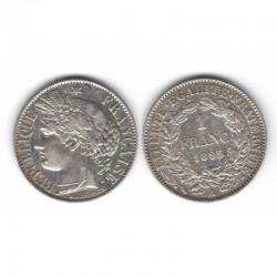 1 piece de 1 franc Ceres Argent 1895 A ( 003 )