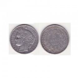 1 piece de 5 francs Ceres Argent 1850 A ( 001 )