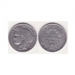1 piece de 5 francs Ceres Argent 1849 A ( 001 )