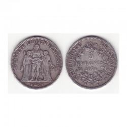 5 francs Hercule 1874 K argent ( 004 )