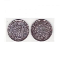 5 francs Hercule 1875 K argent ( 004 )