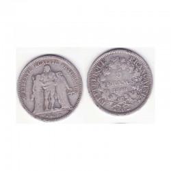 5 francs Hercule 1849 A argent ( 001 )