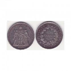 5 francs Hercule 1873 A argent ( 009 )