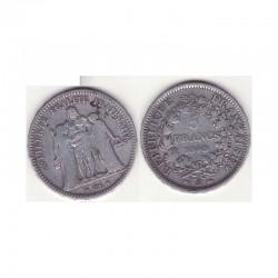 5 francs Hercule 1848 A argent ( 003 )