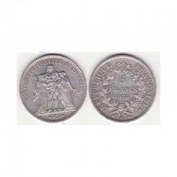 5 francs Hercule 1875 A argent ( 002 )