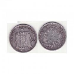 5 francs Hercule 1875 A argent ( 004 )