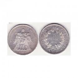 5 francs Hercule 1876 A argent ( 001 )