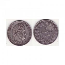 5 francs Louis Philippe 1848 A Argent ( 001 )