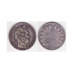 5 francs Louis Philippe 1847 A Argent ( 003 )