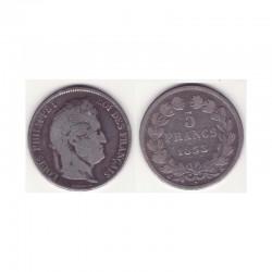 5 francs Louis Philippe 1833 A Argent ( 002 )