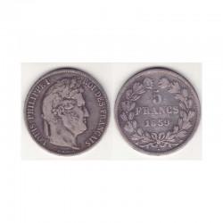 5 francs Louis Philippe 1839 A Argent ( 001 )
