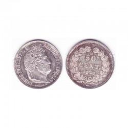 50 Cents Louis Philippe 1848 A Argent ( 001 )