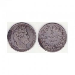 5 francs Louis Philippe 1834 W Argent ( 002 )
