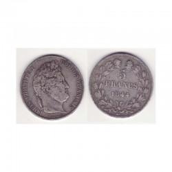 5 francs Louis Philippe 1844 W Argent ( 001 )