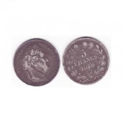 5 francs Louis Philippe 1840 A Argent ( 003 )