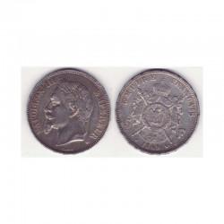 5 francs Napoleon III 1869 BB argent ( 003 )