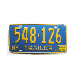 Plaque d Immatriculation USA - New York ( 730 )
