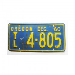 Plaque d Immatriculation USA - Oregon ( 743 )