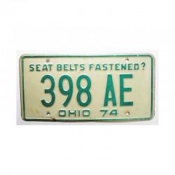 Plaque d Immatriculation USA - Ohio ( 741 )