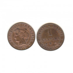 1 piece de 1 centime Ceres 1875 K Bronze ( 001 )