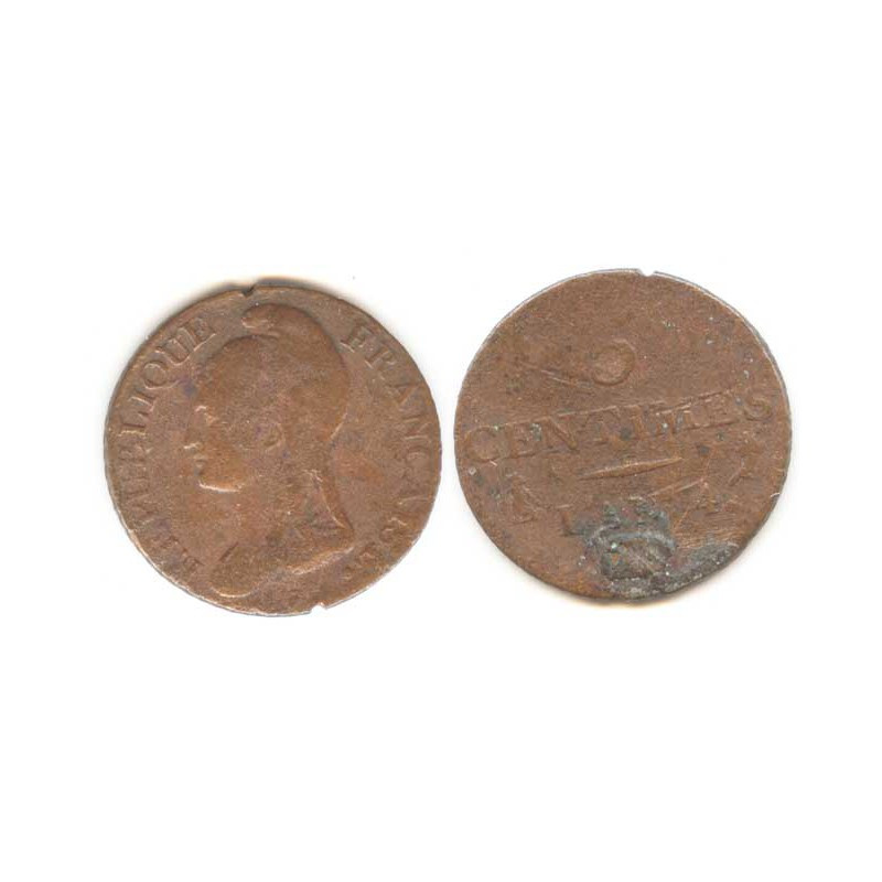 5 Centimes Dupré an 4 A ( 004 )